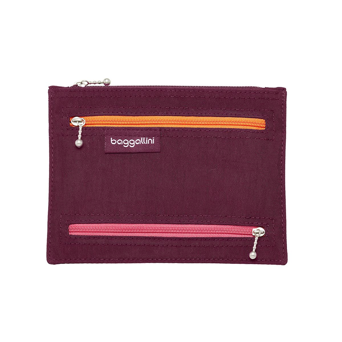 baggallini Eggplant RFID-Blocking Passport & Currency Organizer