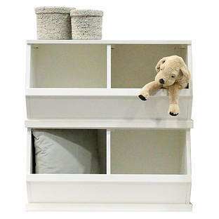 White Nantucket Stackable Storage Bin