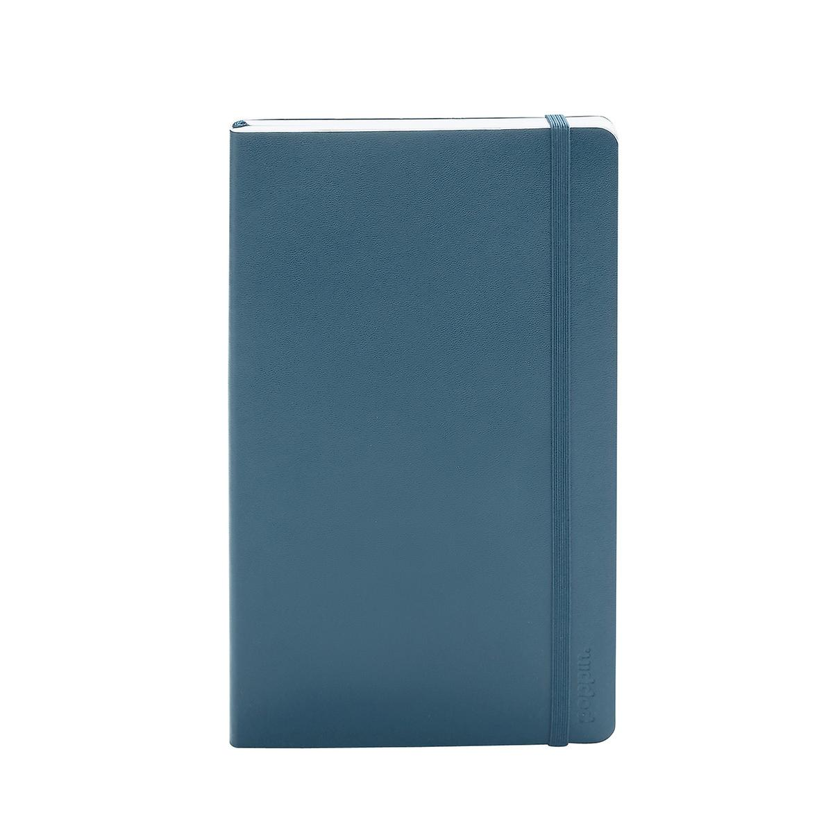 Slate Blue Poppin Medium Soft Cover Notebook