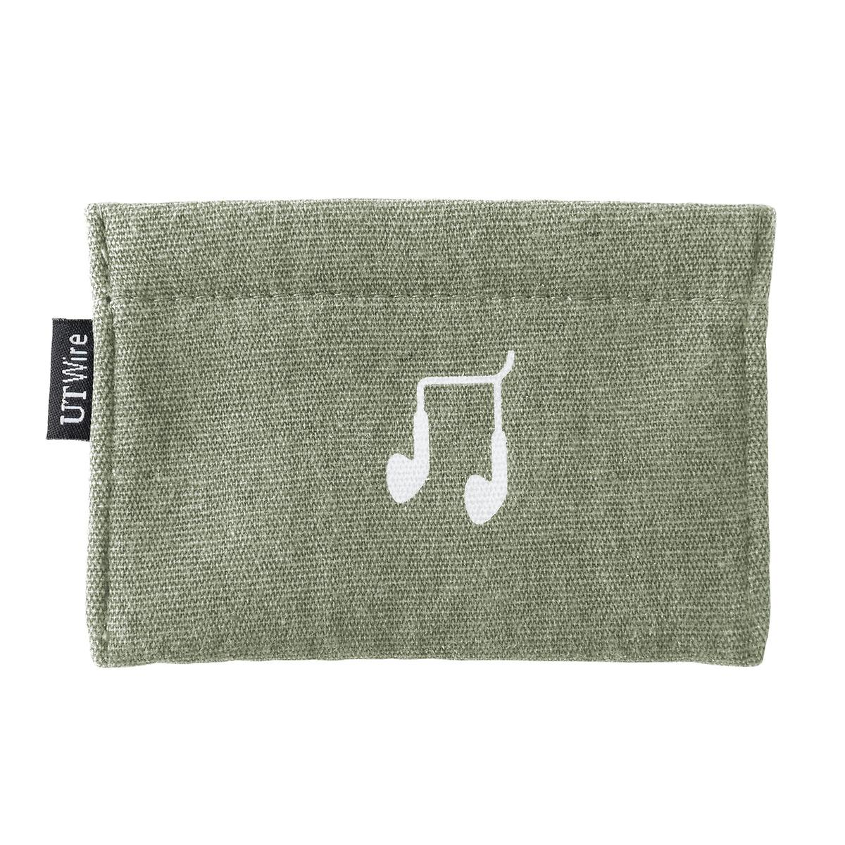 Sage Green Earphone  Accessory Pouch