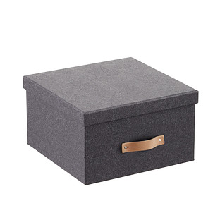 Bigso Black Woodgrain Photo Storage Box