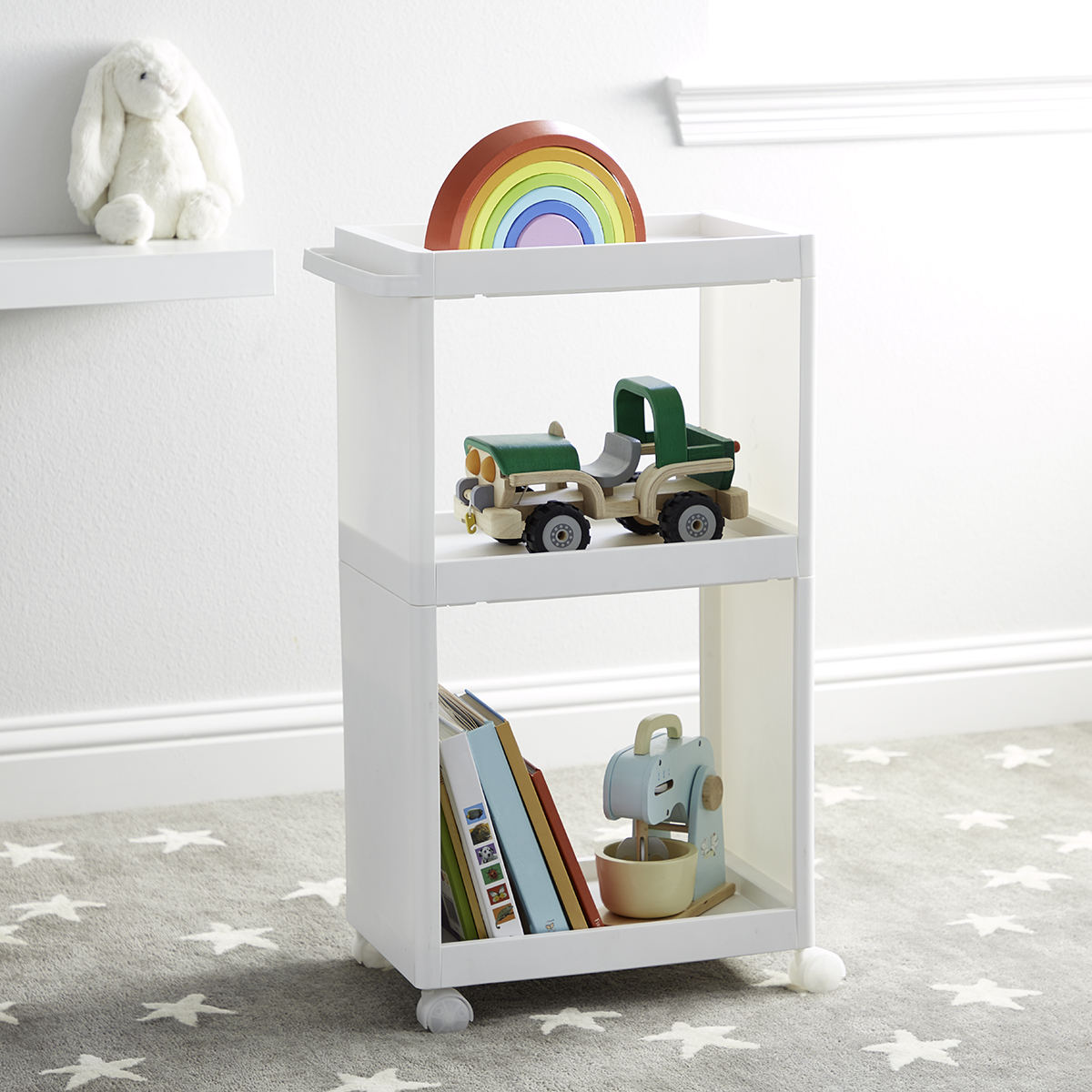 Wide 3-Tier Like-It Storage Cart