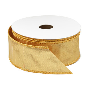 Gold Woven Wired Ribbon