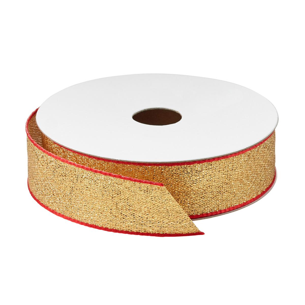 Red Trimmed Gold Wired Ribbon