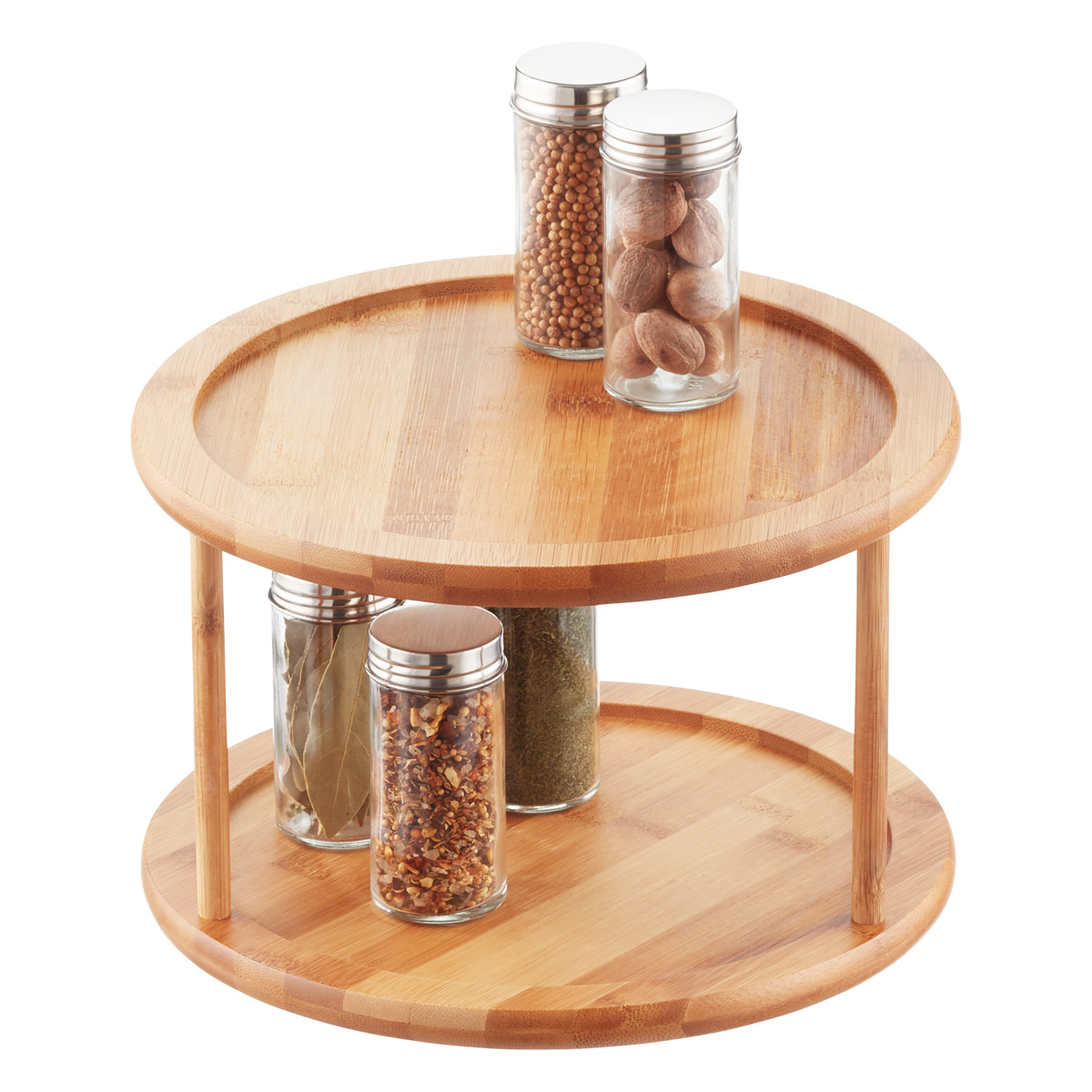 2-Tier Bamboo Lazy Susan