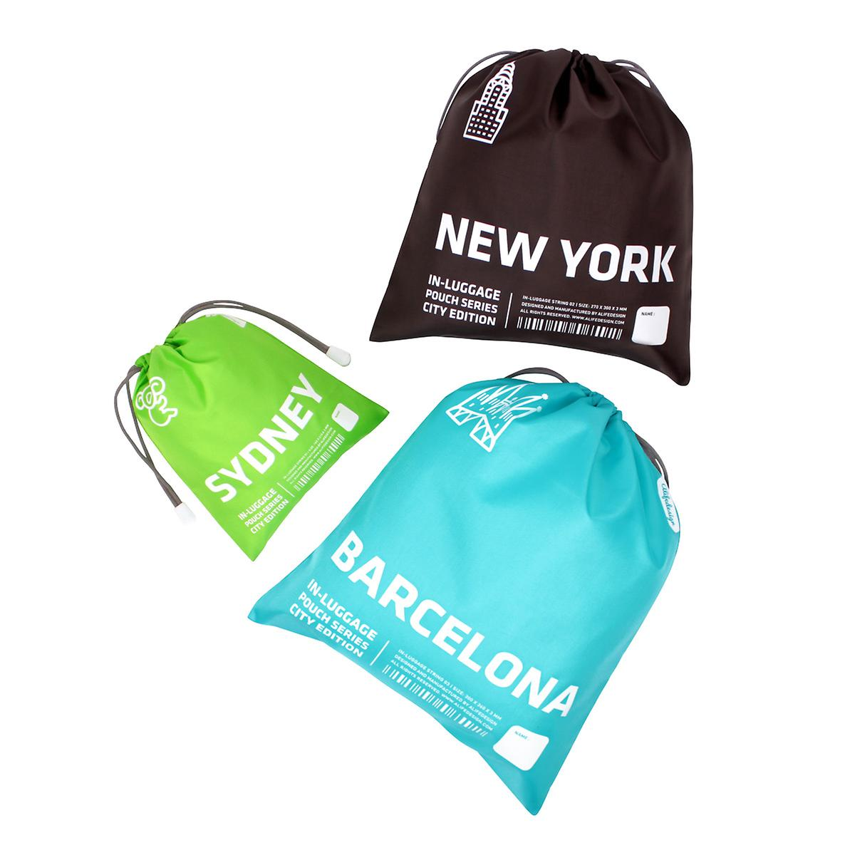 City Packing Drawstring Organizers Set