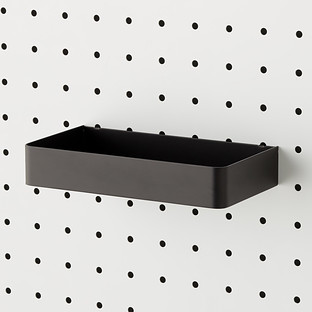 Black Bello Long Pegboard Bin