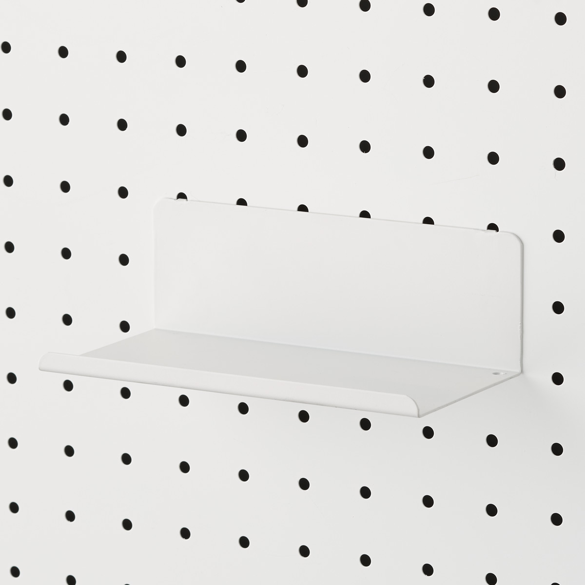 White Bello Pegboard Shelf