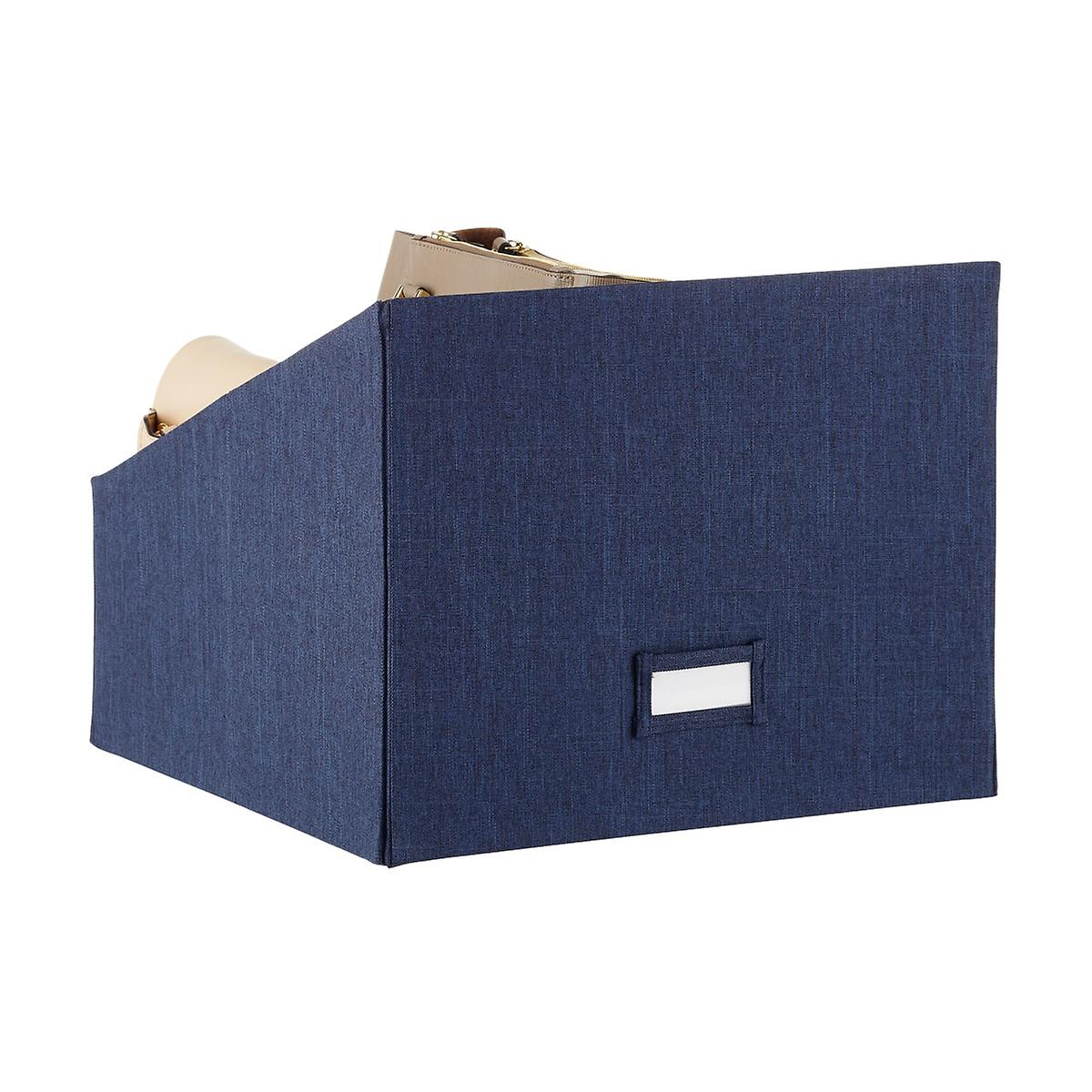 Navy Cambridge Purse Storage Bin