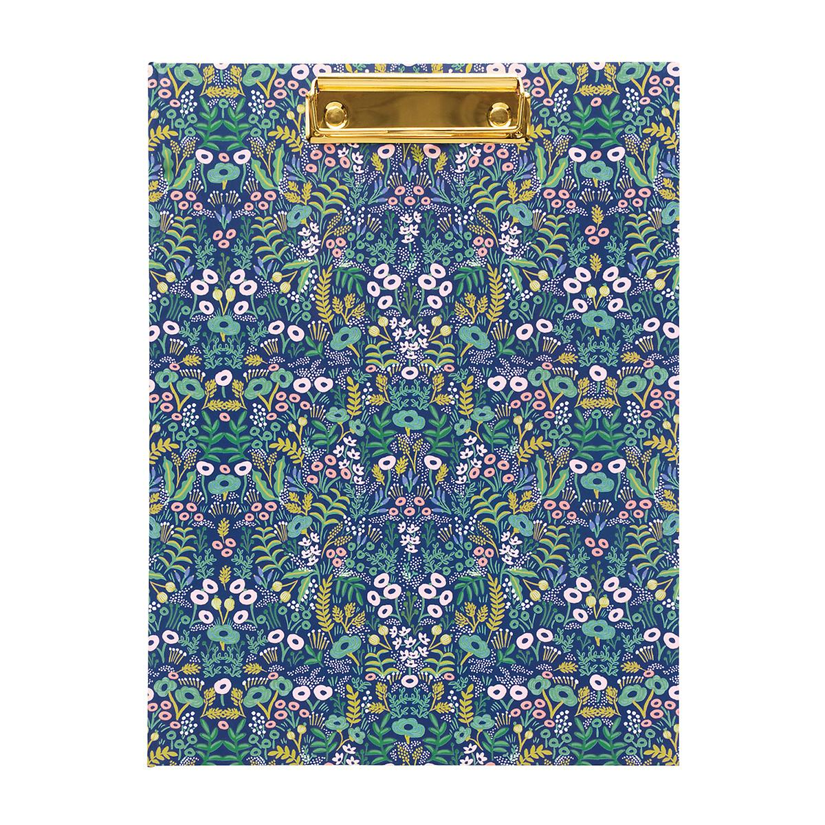 Rifle Paper Co. Navy Floral Tapestry Clipfolio