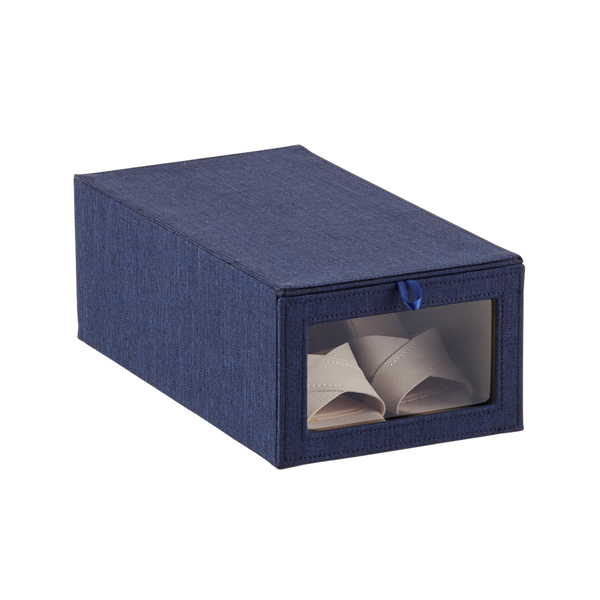 Navy Cambridge Drop-Front Shoe Box