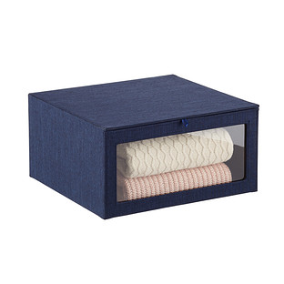 Navy Drop-Front Sweater Box