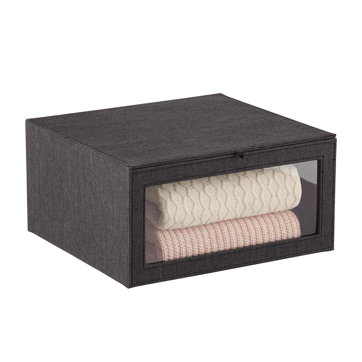 Black Cambridge Drop-Front Sweater Box