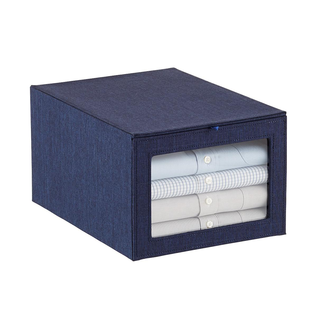 Navy Drop-Front Shirt Box