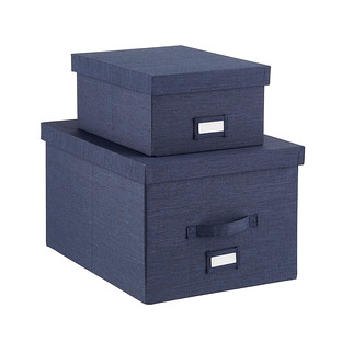 Navy Storage Boxes