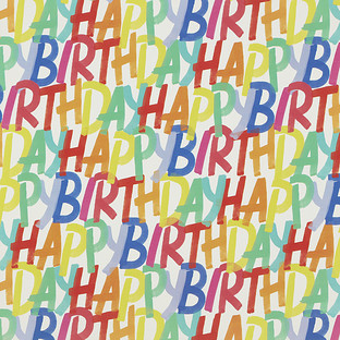 Rainbow Birthday Wrapping Paper