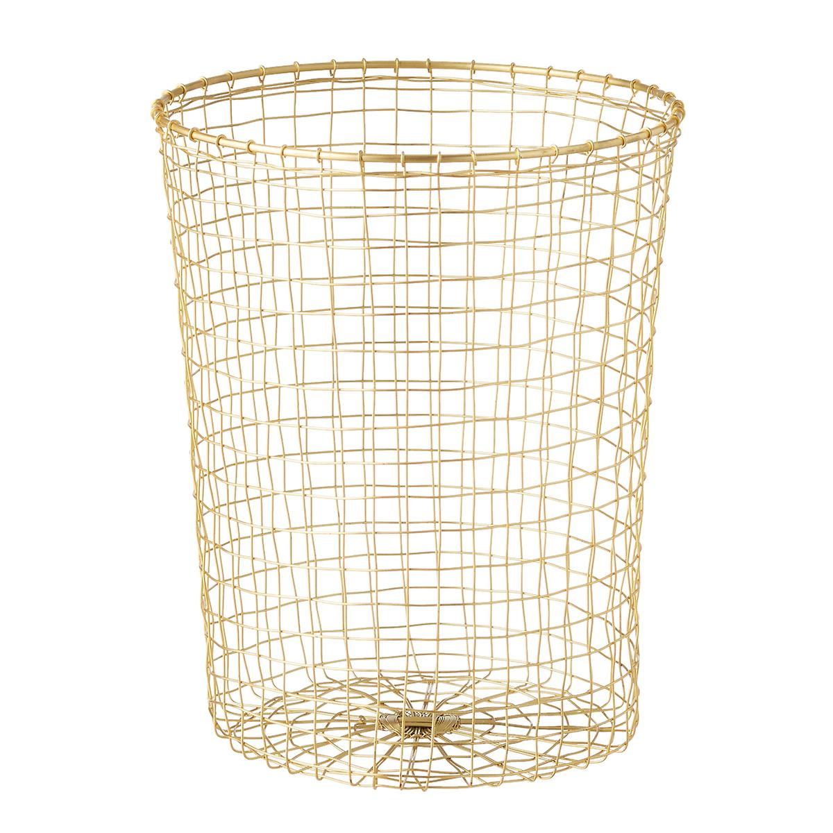 Brass Marché Trash Can