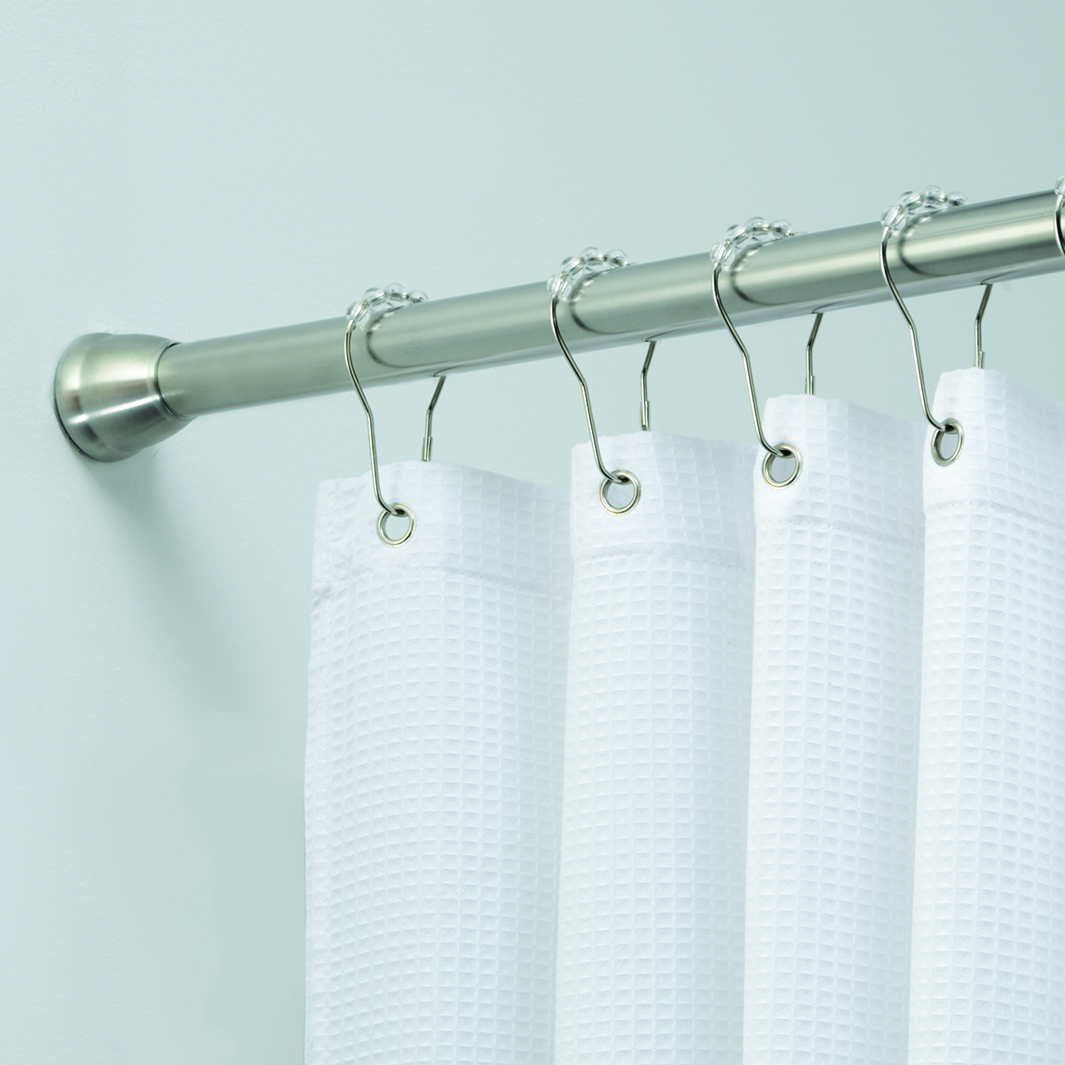 Picture of: Forma Brushed Stainless Steel Ultra Tension Shower Rod The Container Store