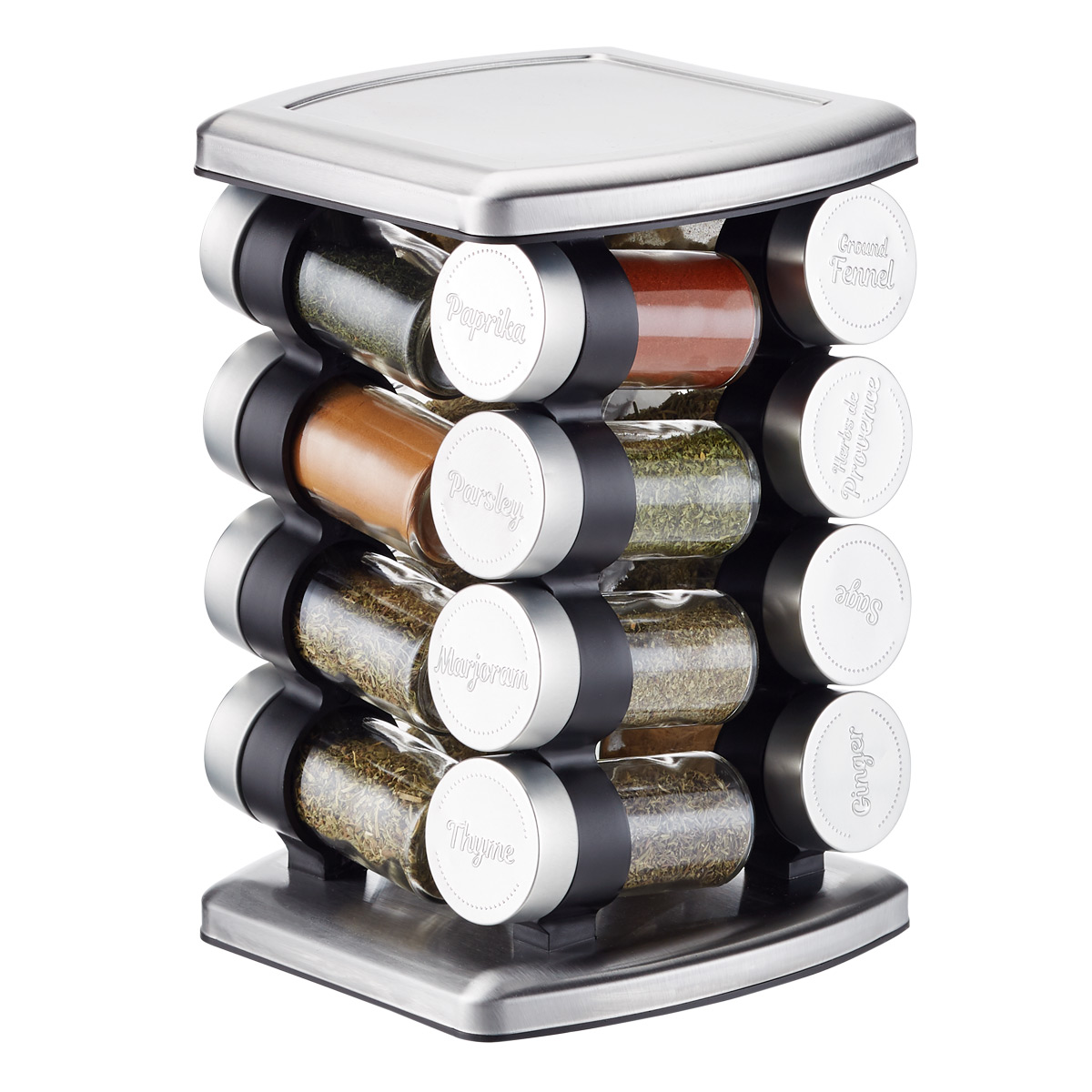 16-Bottle Revolving Spice Rack