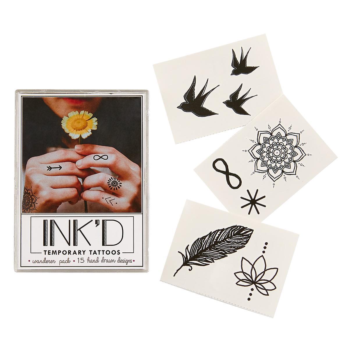 Inkd Temporary Wanderer Tattoo Set