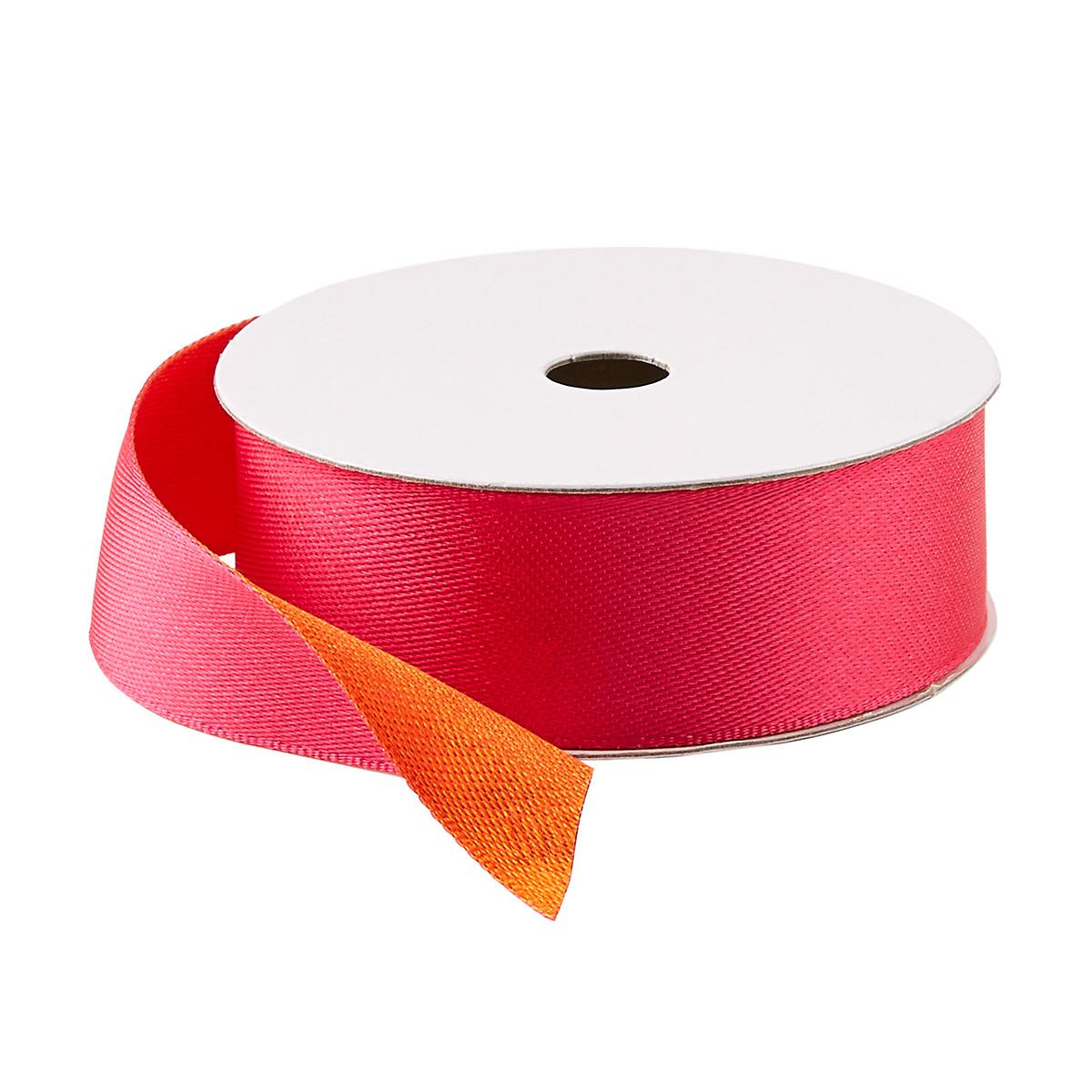 Pink & Orange Double Satin Ribbon