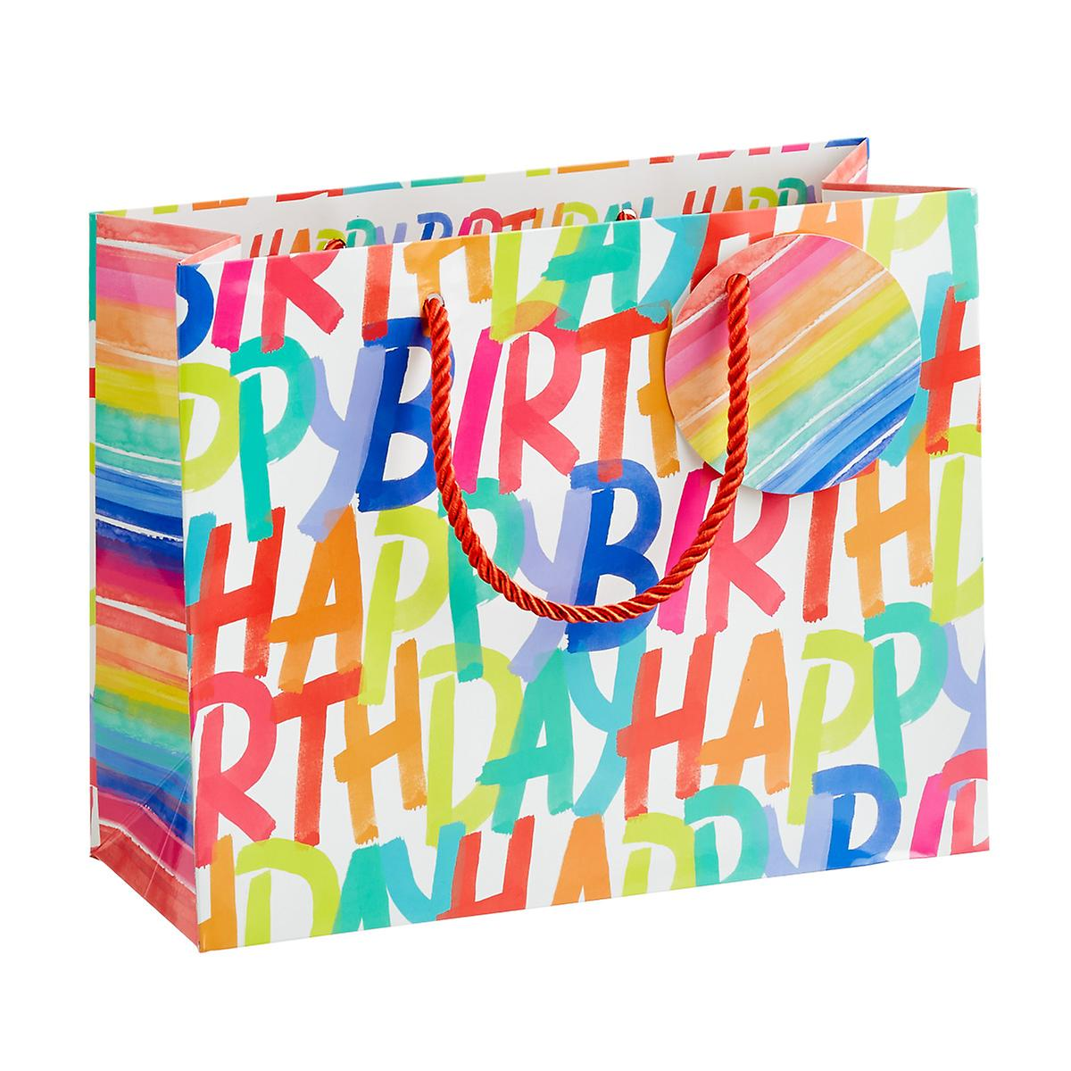 Medium Rainbow Birthday Gift Bag