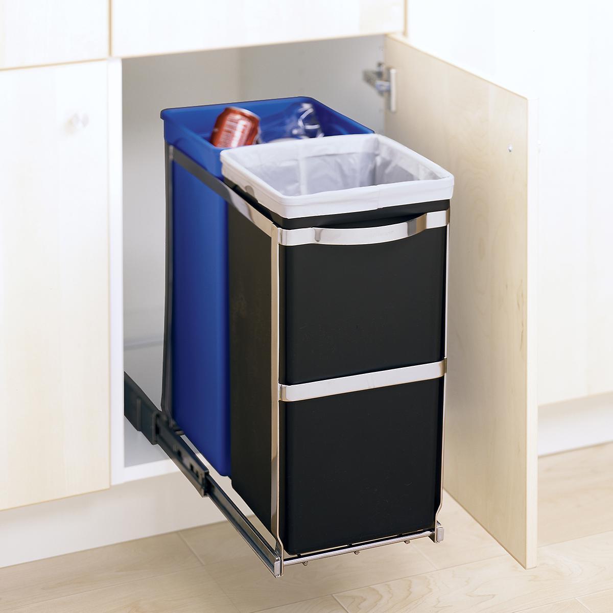 simplehuman 9.2 gal. 2-Bin Pull-Out Recycle Bin
