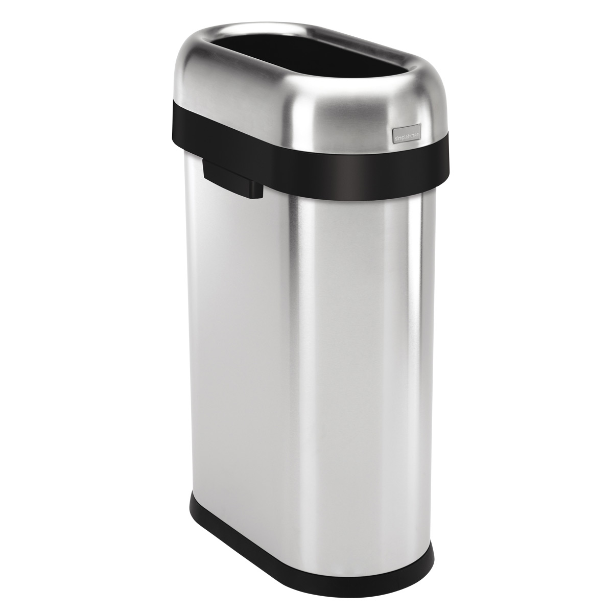 simplehuman Stainless Steel 13 gal. Slim Open Trash Can