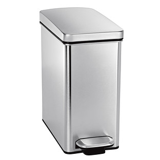 simplehuman Stainless Steel 2.6 gal. Profile Step Trash Can