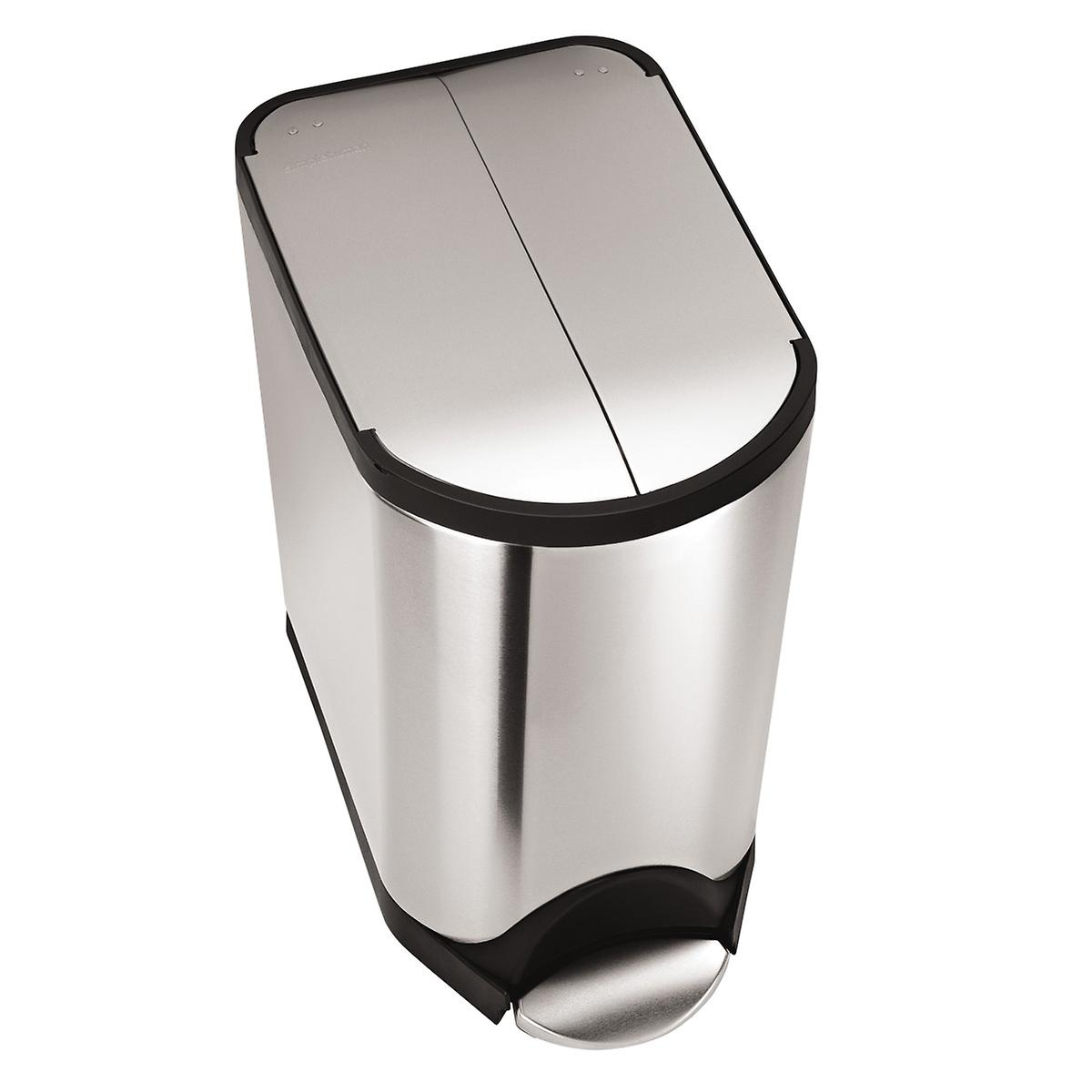 simplehuman Stainless Steel 5.2 gal. Butterfly Step Trash Can