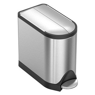 simplehuman Stainless Steel 2.6 gal. Butterfly Step Trash Can