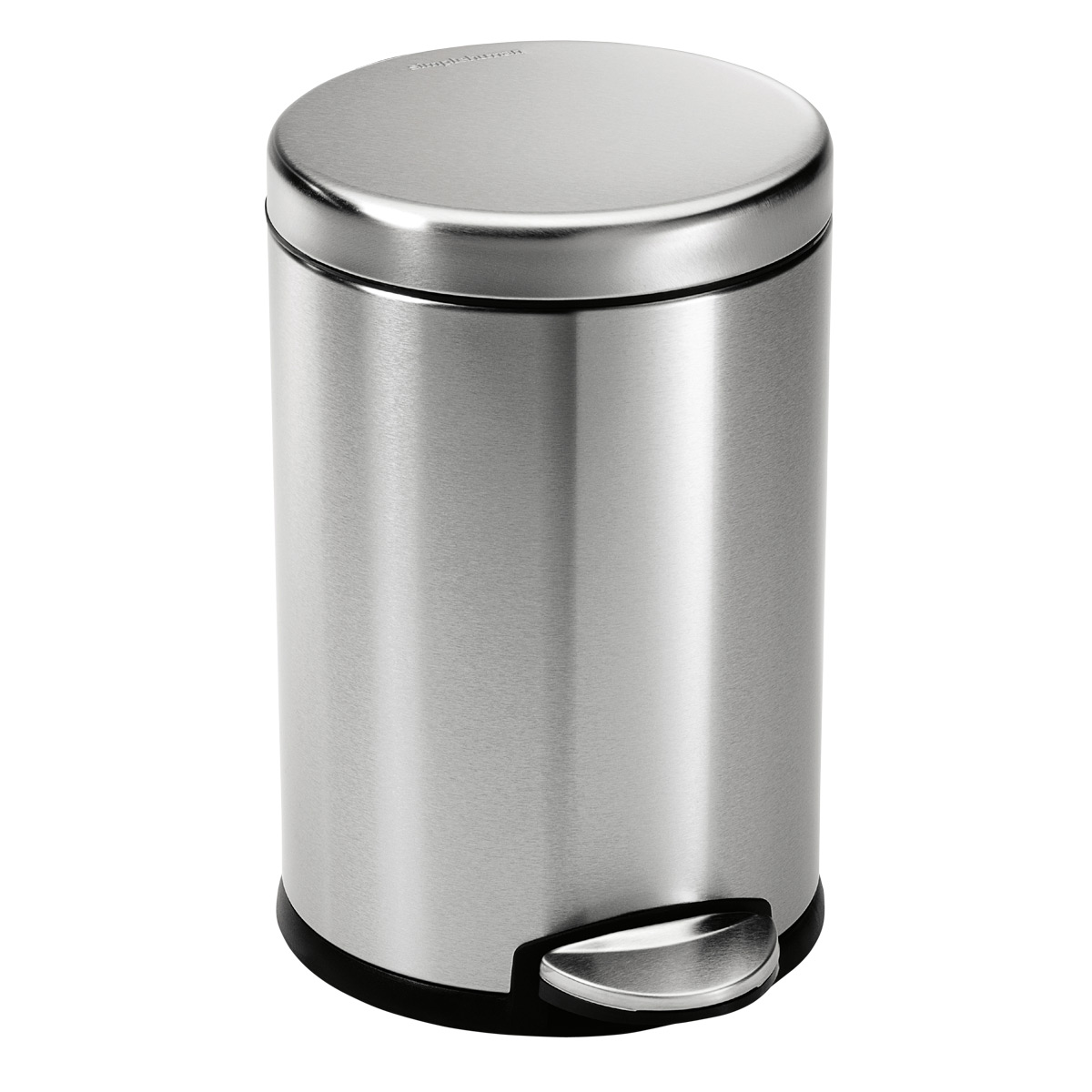 simplehuman Stainless Steel 1.2 gal. Round Step Trash Can