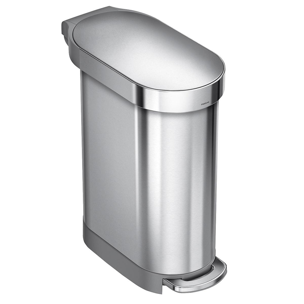 simplehuman Stainless Steel 12 gal./45L Step Trash Can