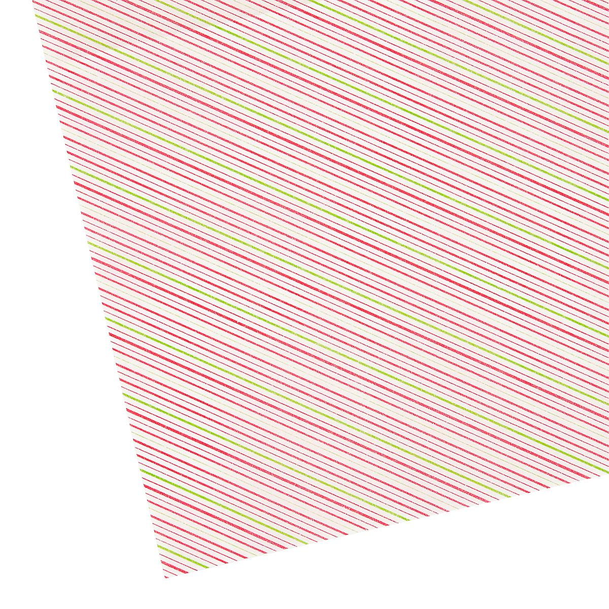 Red Holiday Stripe Parchment Sheets