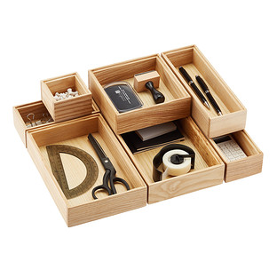 Stackable Ash Wood Drawer Organizers