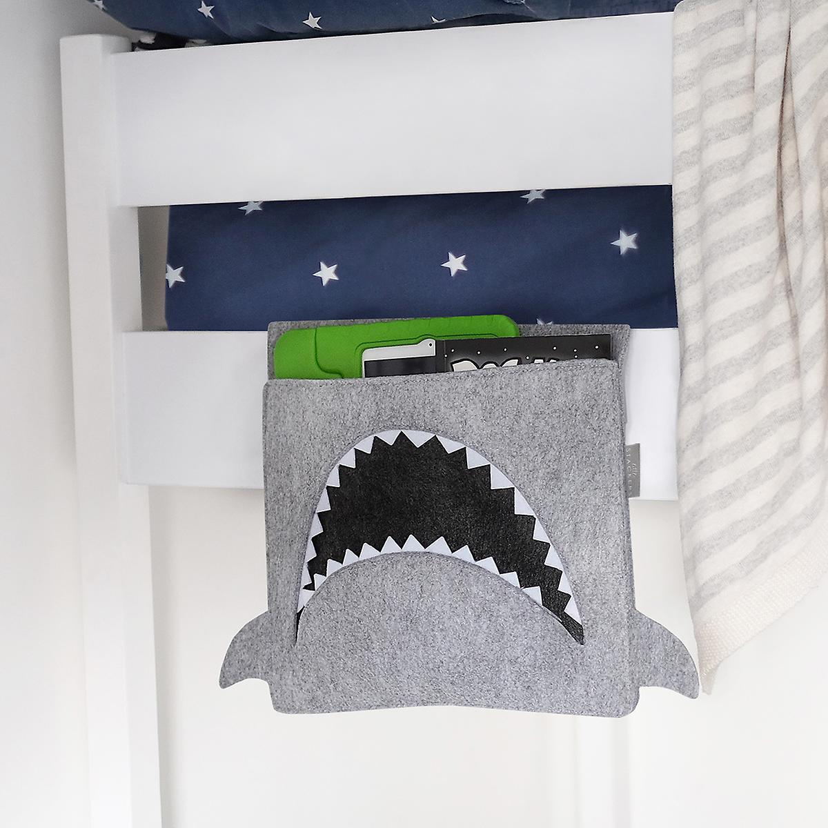 Little Stackers Shark Bedside Storage Caddy