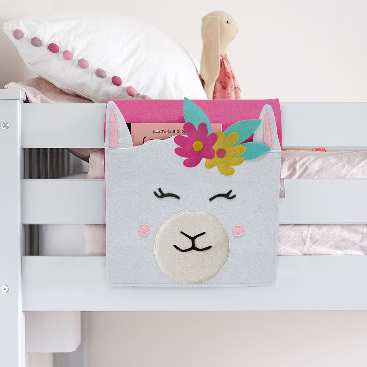 Little Stackers Llama Bedside Storage Caddy
