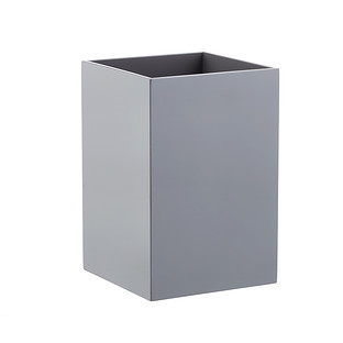 Grey Lacquered Gloss Wastebasket