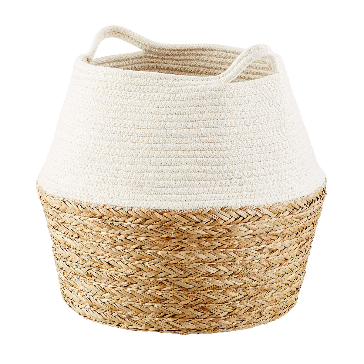 Seagrass and Cotton Belly Basket