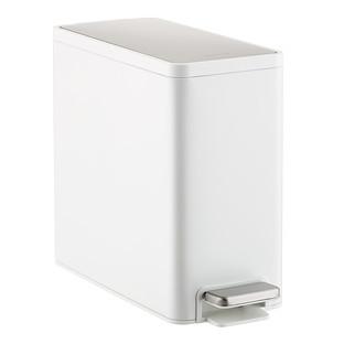 Kohler 2.5 gal. Slim White Stainless Steel Wastebasket