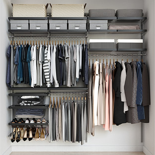 Elfa Décor 7' Grey & Platinum Reach-In Closet