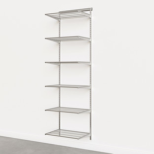 Elfa Classic Platinum 2'  Basic Shelving Units for Anywhere
