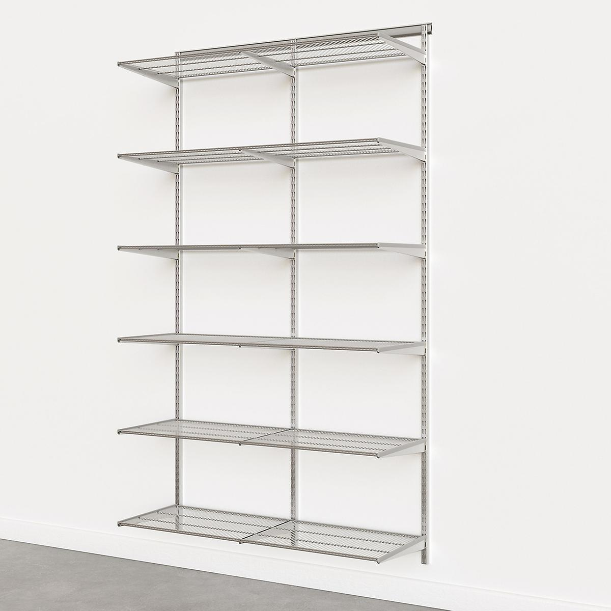 Elfa Classic Platinum 4' Basic Shelving Units for Anywhere