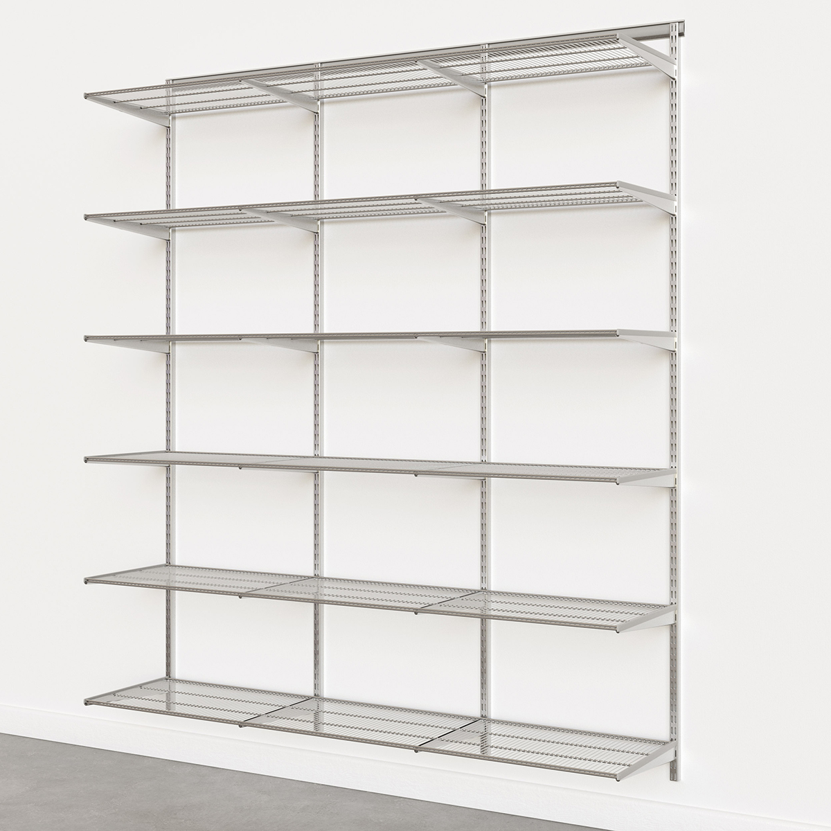 Elfa Classic Platinum 6' Basic Shelving Units for Anywhere