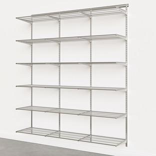 Elfa Classic Platinum 6' Basic Shelving Units for Anywhere