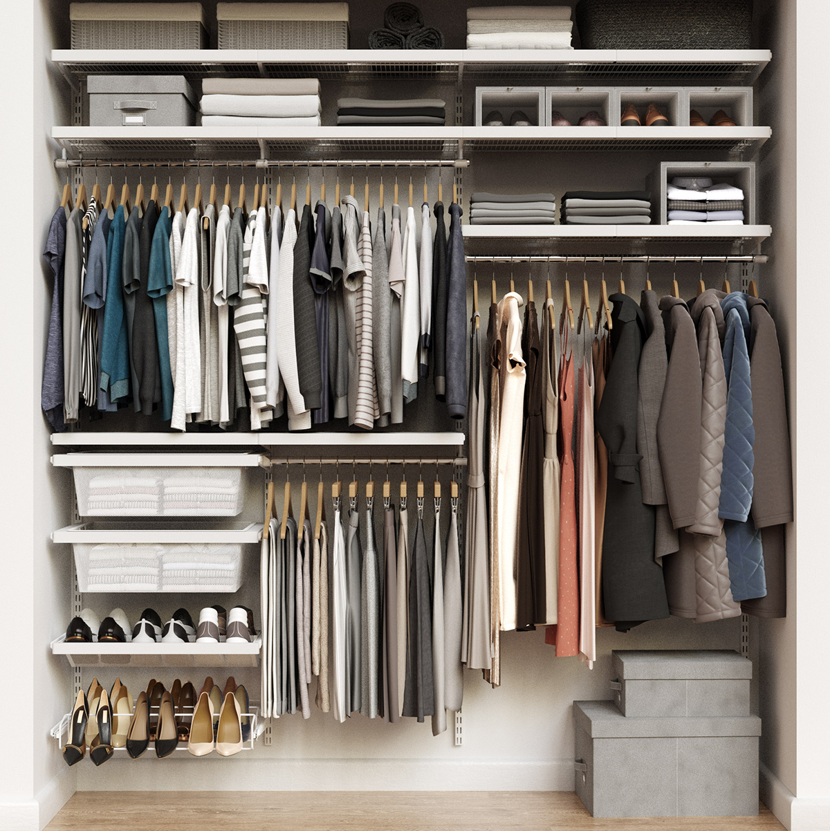 Elfa Decor 7 White Reach In Closet