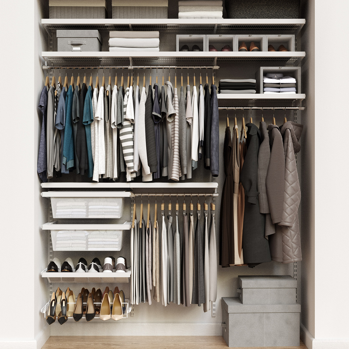 Elfa Decor 6' White Reach-In Closet