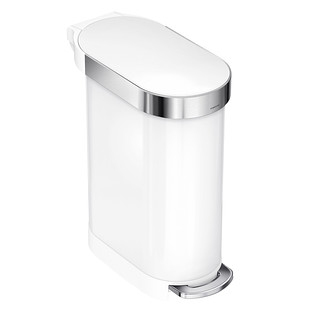 simplehuman White 12 gal./45L Step Trash Can