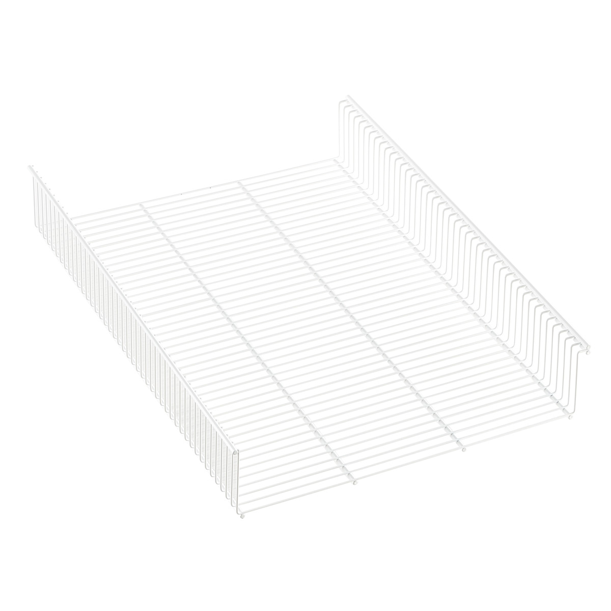 White Elfa Shelf Basket
