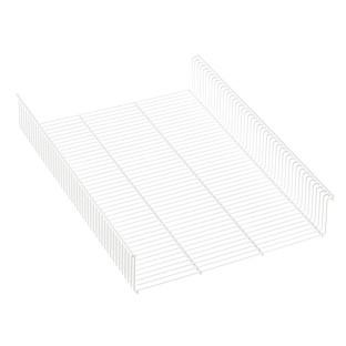 White Elfa Shelf Basket